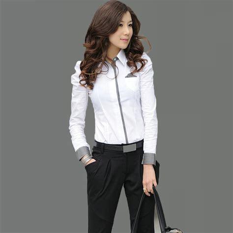 imagenes de camisas blancas para mujeres compra se 241 oras blusas de negocios online al por mayor de