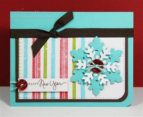 Handmade Cards For New Year - happy new year handmade cards