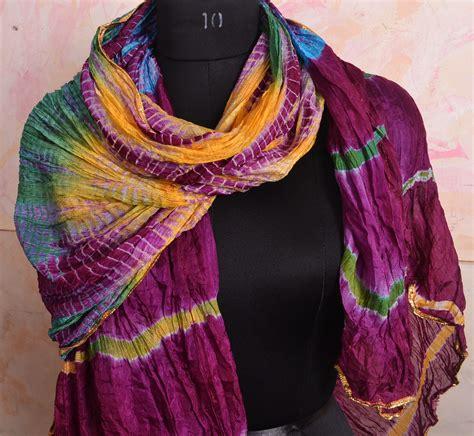 tutorial pashmina tie dye lovely scarf crinkle tiedye shawl silk chiffon pashmina