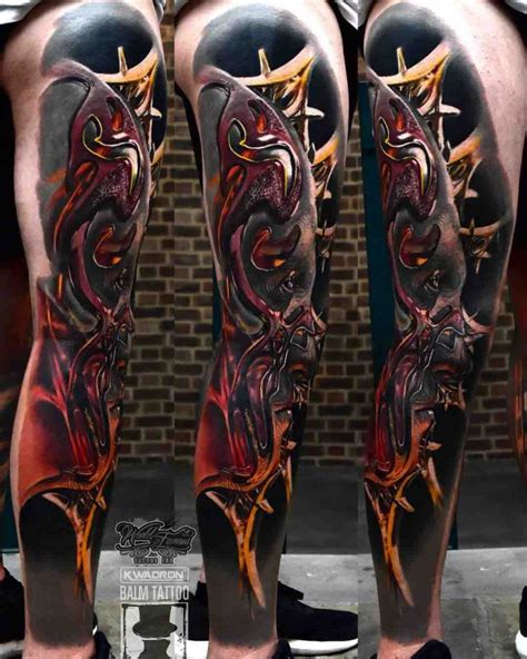 3d tattoo girl leg 3d leg tattoo best tattoo ideas gallery