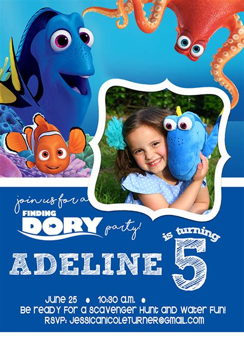 Finding Dory Party Activities Decorations More The Mom Creative Finding Dory Birthday Invitations Template