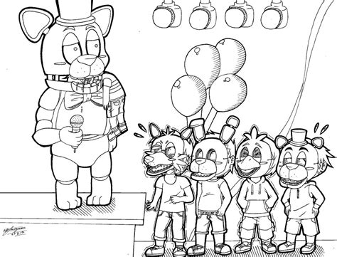 fnaf chibi coloring pages fnaf chibi bite of 87 lineart 3 by shannonxnaruto on