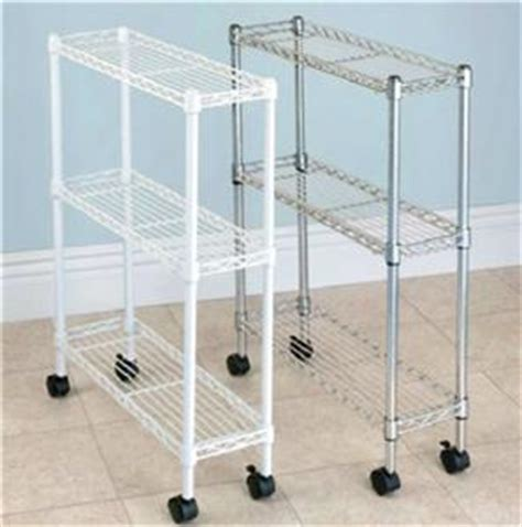 Laundry Room Slim Rolling Adjustable Laundry Storage Cart Laundry Room Storage Cart