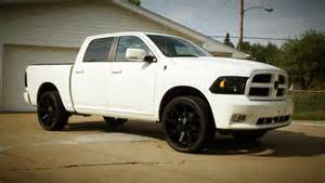 White Dodge Truck Black Wheels Suggestions For Black Wheels On White Truck Dodge Ram