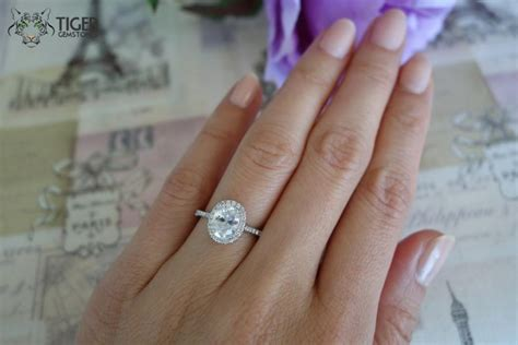 1 5 carat oval cut halo engagement ring d color