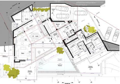 Modã Le Plan D Plan De Maison Avec Patio Interieur Trendy Exposition