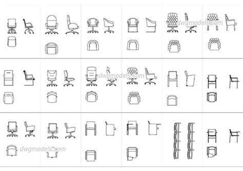 stuhl 2d dwg models free cad blocks