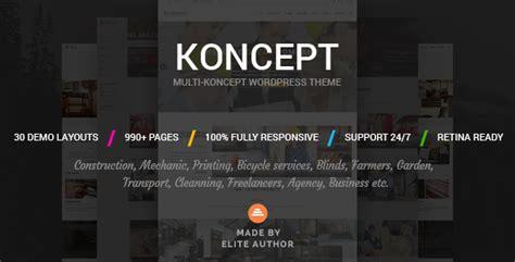 themeforest koncept koncept responsive multi concept wordpress theme by