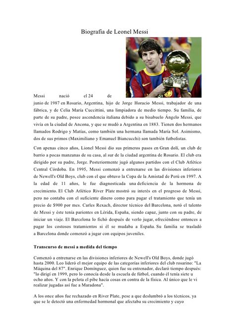 biography messi en ingles biograf 237 a de leonel messi
