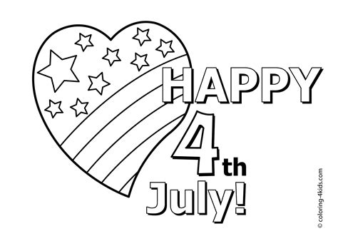 july 4th coloring pages printable free happy july 4 coloring pages i love independence day