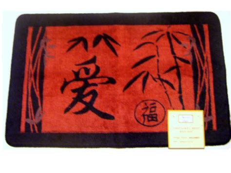 asian bathtub asian bath mat carved oriental symbols
