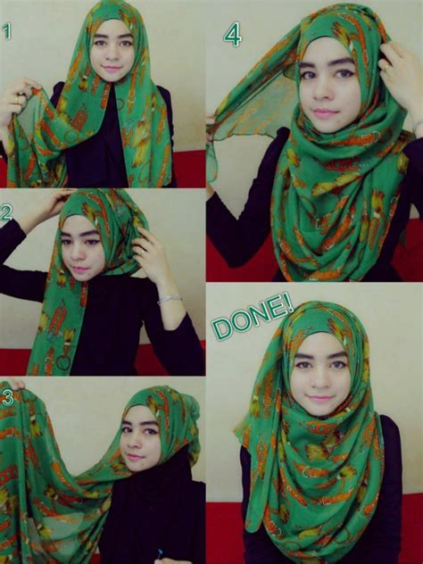 tutorial hijab chic simple simple and cute hijab tutorials pinterest