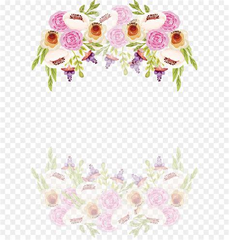 wedding invitation romantic watercolor border of