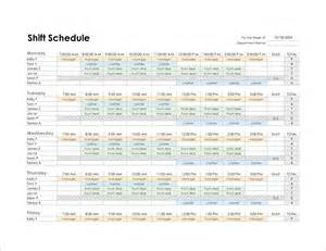 Monthly Employee Schedule Template by 8 Monthly Schedule Template Memo Formats