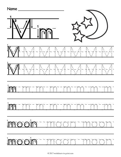 alphabet worksheets letter m tracing letter m worksheet