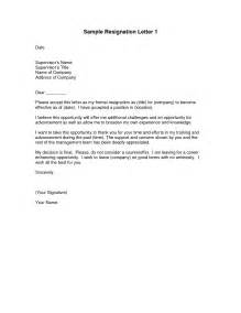 Samples letter of resignation template template