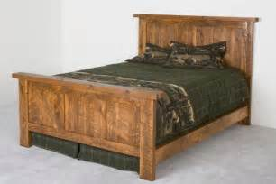 pioneer barnwood bed panel style bed