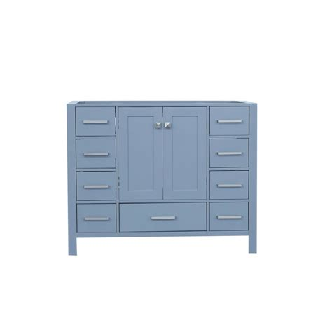 42 Vanity Cabinet Only by Ariel Cambridge 42 In W Vanity Cabinet Only In Grey A043s