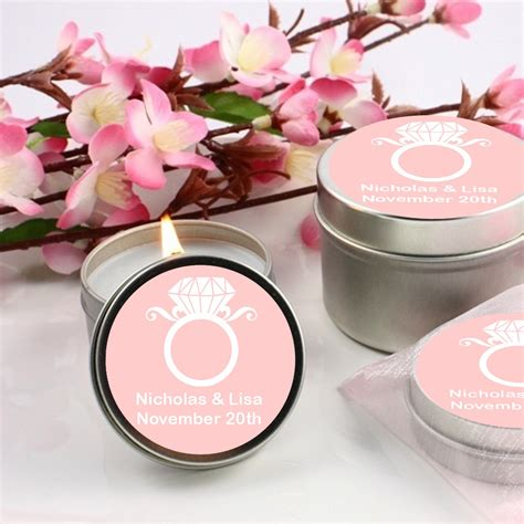 Candle Giveaways - engagement ring bridal shower candle favors candles favors