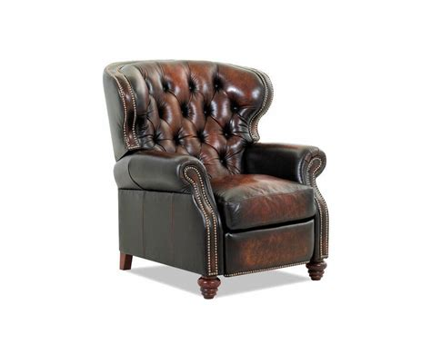 leather reclining chair and american made tufted leather recliner