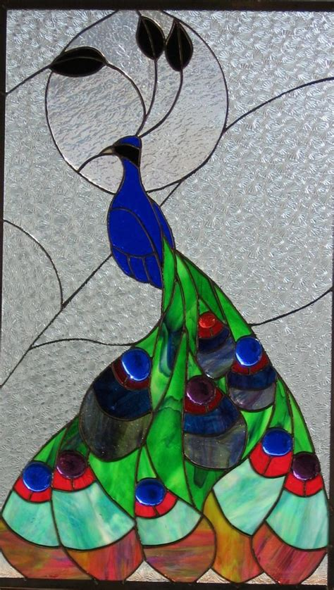 peacock stained glass l 51 best images about stained glass farm animals on