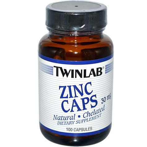 Vitamin Zinc Capsule Twinlab Zinc Caps 30 Mg 100 Capsules Iherb