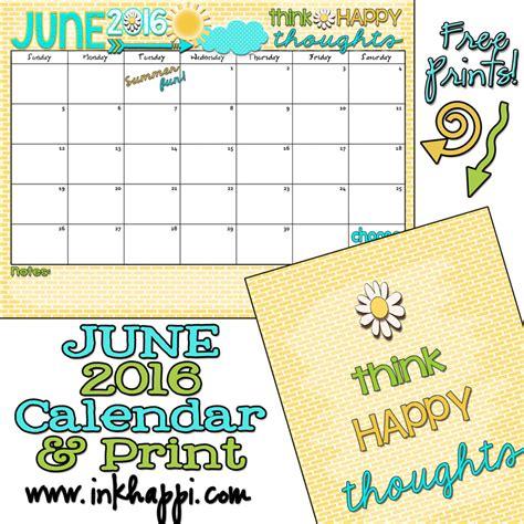 june  calendar lets   summer fun inkhappi