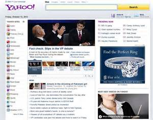 www yahoo home page marissa mayer s new yahoo homepage business insider