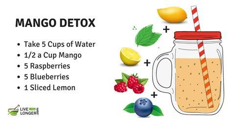 Mango And Lemon Detox Water by 21 Best Detox Water Recipes For Weight Loss Cleansing In