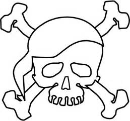 Skull And Crossbones Coloring Pages Halloween Bones sketch template