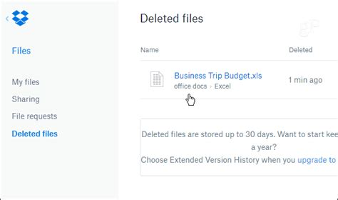 dropbox deleted files restore deleted or previous versions of files from dropbox