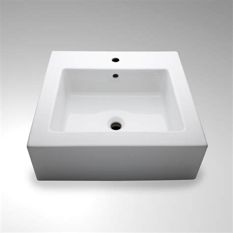 Modern Rectangular Bathroom Sinks Larsen Drop In Undermount Rectangular Porcelain Lavatory