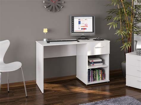 White Home Office Furniture Uk Office Desk White Home Office Computer Furniture 1 Drawer Ebay