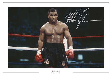 Boxer Mike Hello iron mike tyson boxing signed autograph photo print ebay
