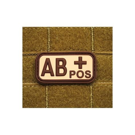 Rubber Pvc Patch Blood Type Ab Pos 1 jtg bloodtype ab pos rubber patch softair