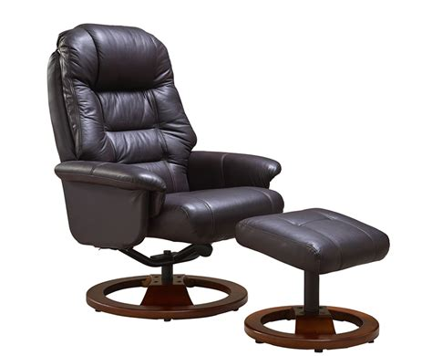 jeremiah red wine bonded leather swivel chair  foot stool