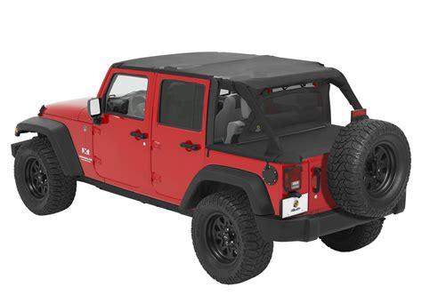 Jeep Jk Safari Top Bestop 174 Duster Windjammer In Black With Mesh