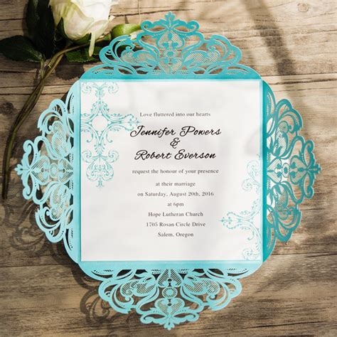 cheap aqua wedding invitations blue wedding invitations cheap at wedding invites