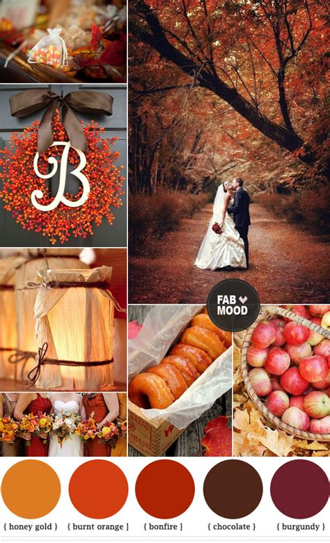 Fab Fall Shades by Autumn Wedding Colors Brown Orange Wedding Colors