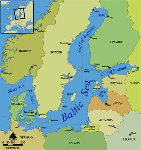 european seas map baltic sea europe images