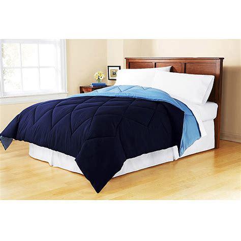 walmart bed sheets queen mainstays reversible microfiber comforter walmart com