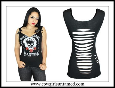Back Rp 12500 N Black Blouse With Lace tees n tanks cowgirls untamed