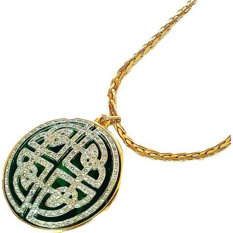nolan miller pendant chain necklace guilloche medallion