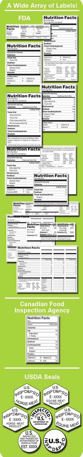 supplement label maker nutrition facts make your own nutrition facts labels