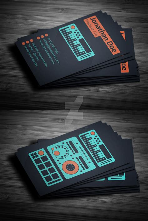 free dj business card psd templates flat producer dj business card psd template by