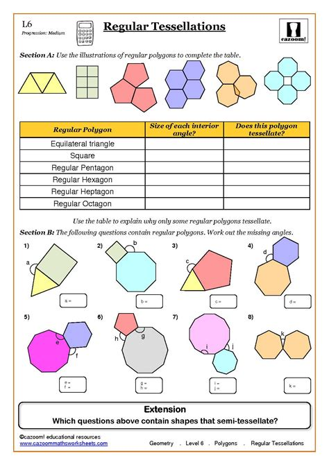 geometry maths worksheet ks3 regular shapes back to