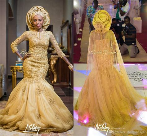 brides maid on yellow from bellanaija gold lace wedding dresses bellanaija mermaid aso ebi