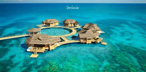 the water bungalows sandals sandals to open water bungalow suites in jamaica