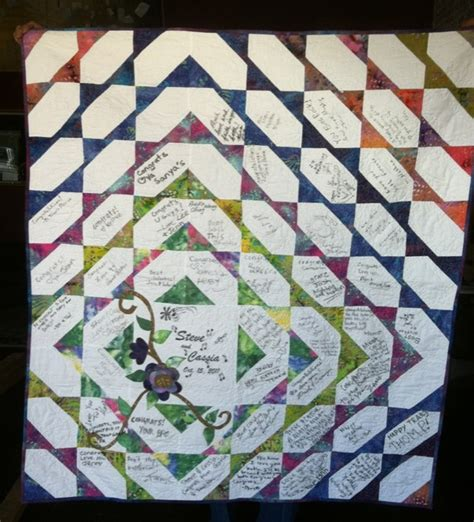 Signature Quilt Pattern by Signature Quilts Are A To Your Wedding