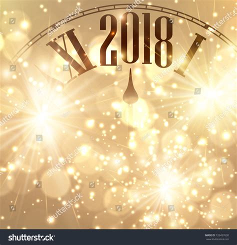 new year image 2018 new year shining background clock stock vector
